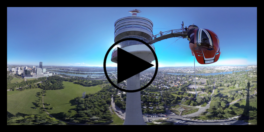 360 Grad Panorama | Donauturm Wien | Bungee Jumping