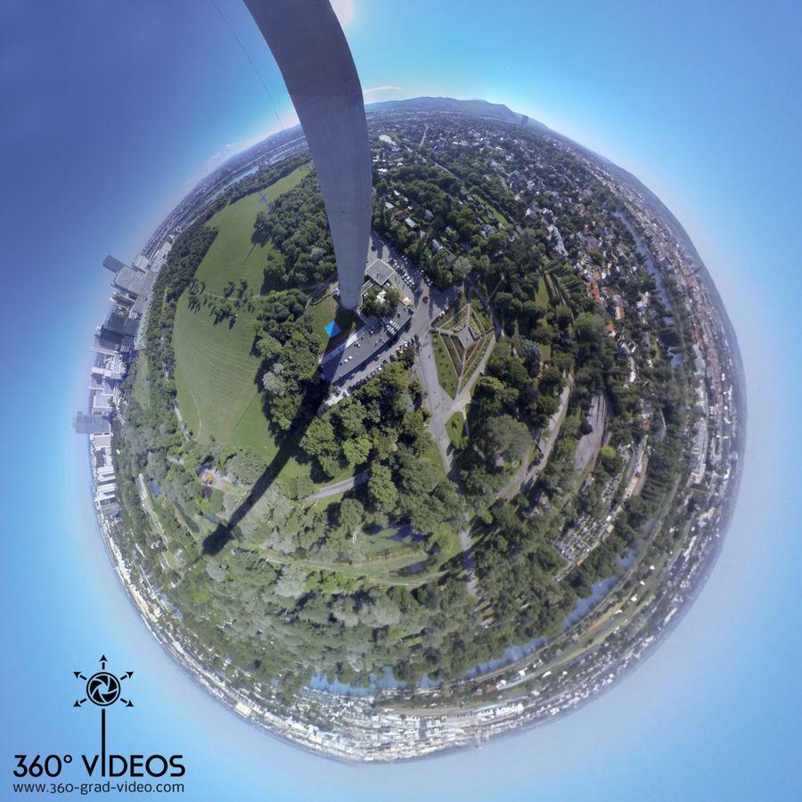 360 Grad Video - Little Planet Donauturm Wien