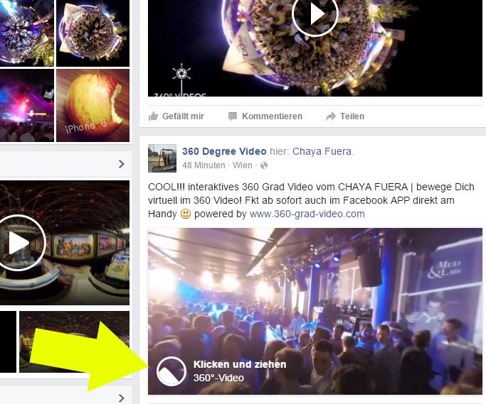Facebook 360 Grad Video