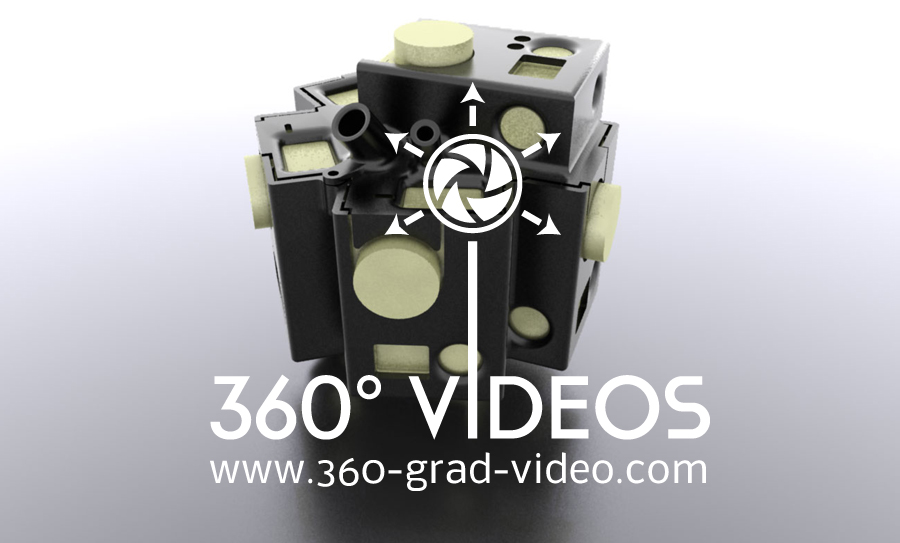 360 Grad Video GoPro Halterung