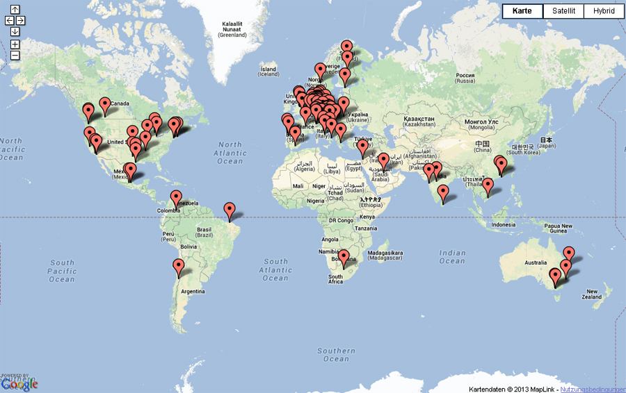 360 Degree World Map.Thank You To All Our Web Visitors From Around The World Past 200