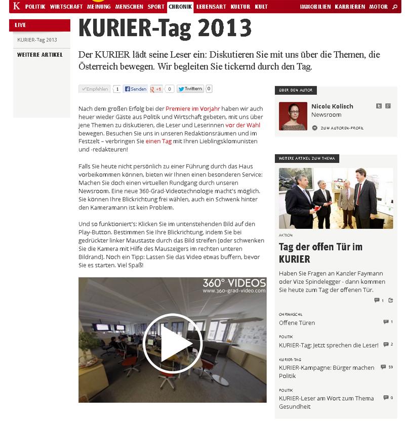 06.09.2013 Kurier-Tag