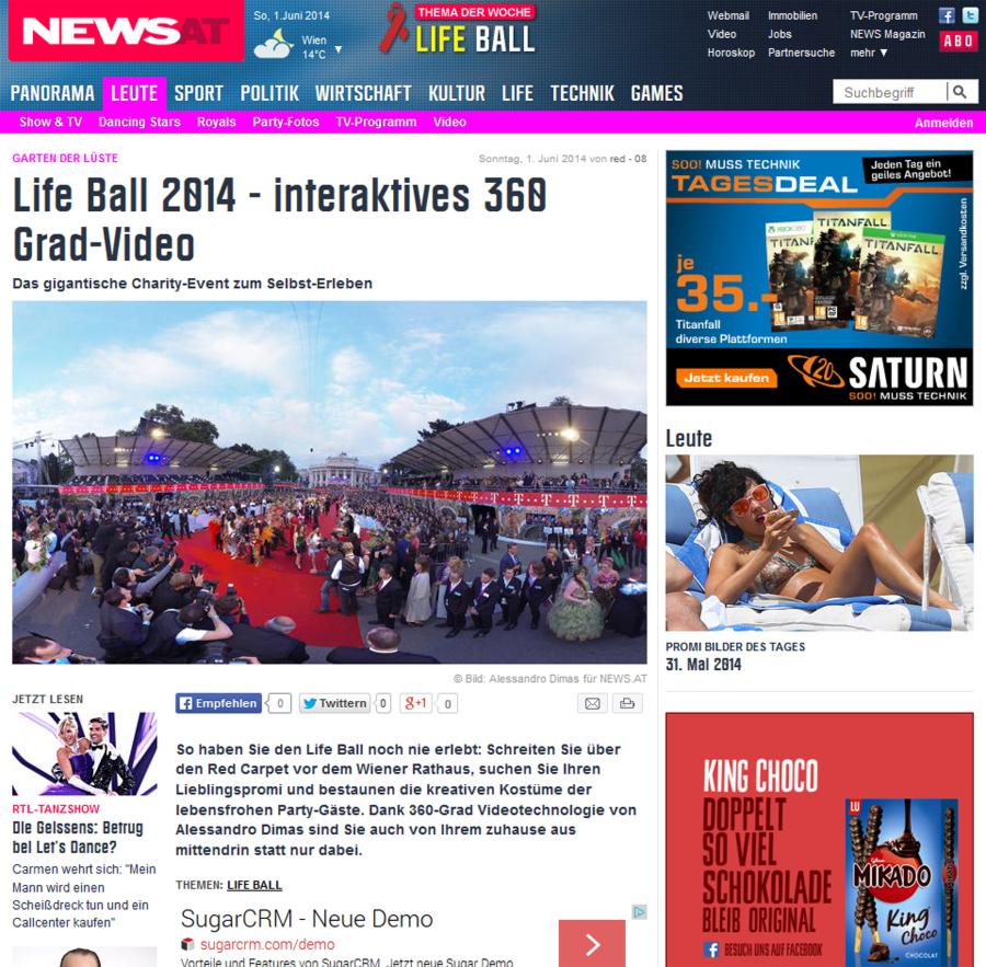 Life Ball 2014 - 360 Grad Video